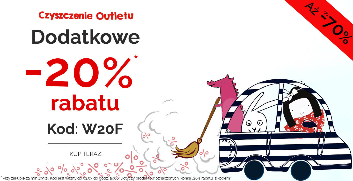 Outlet aż do -70% z kodem