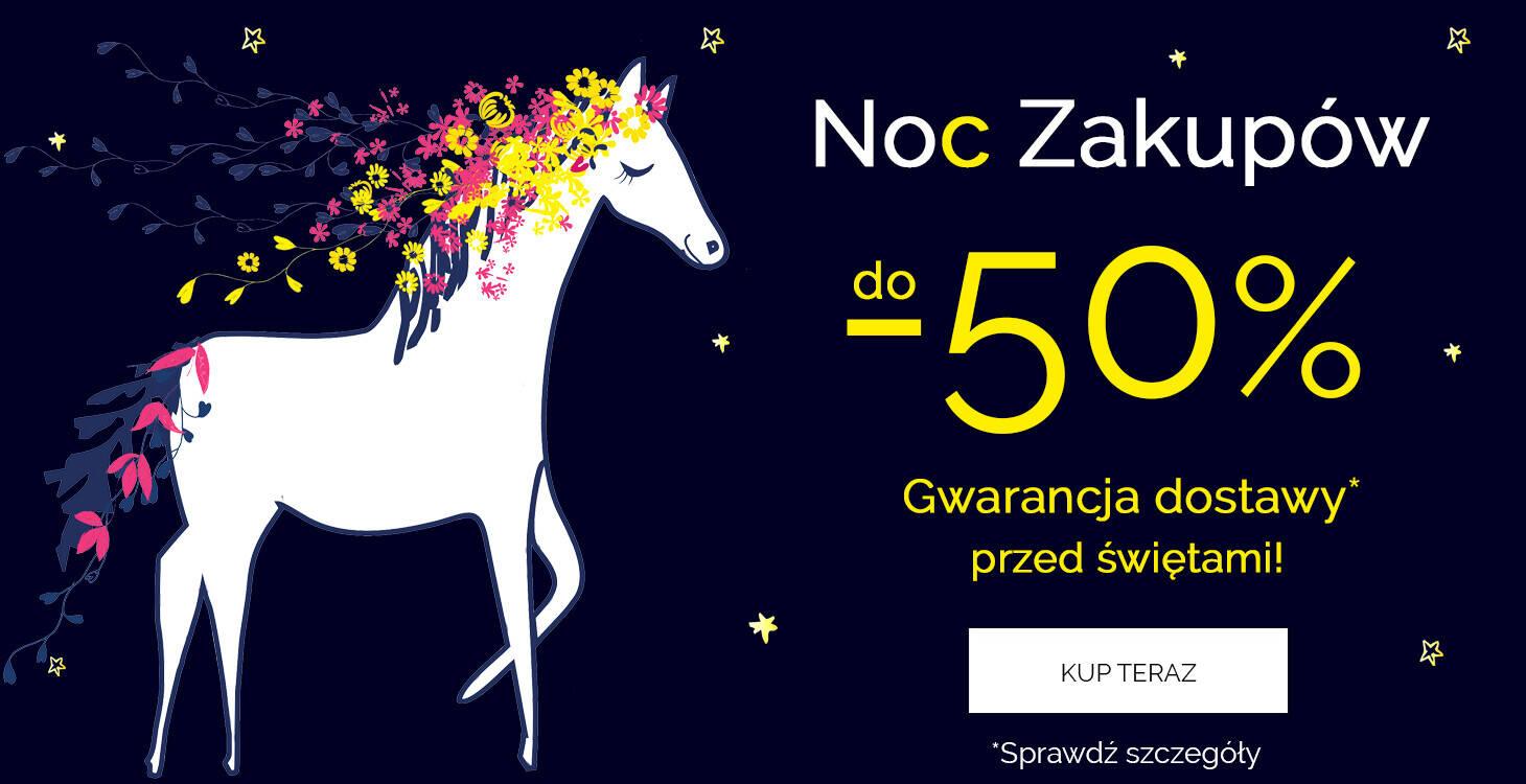Noc Zakupów do -50% z gwarancją dostawy