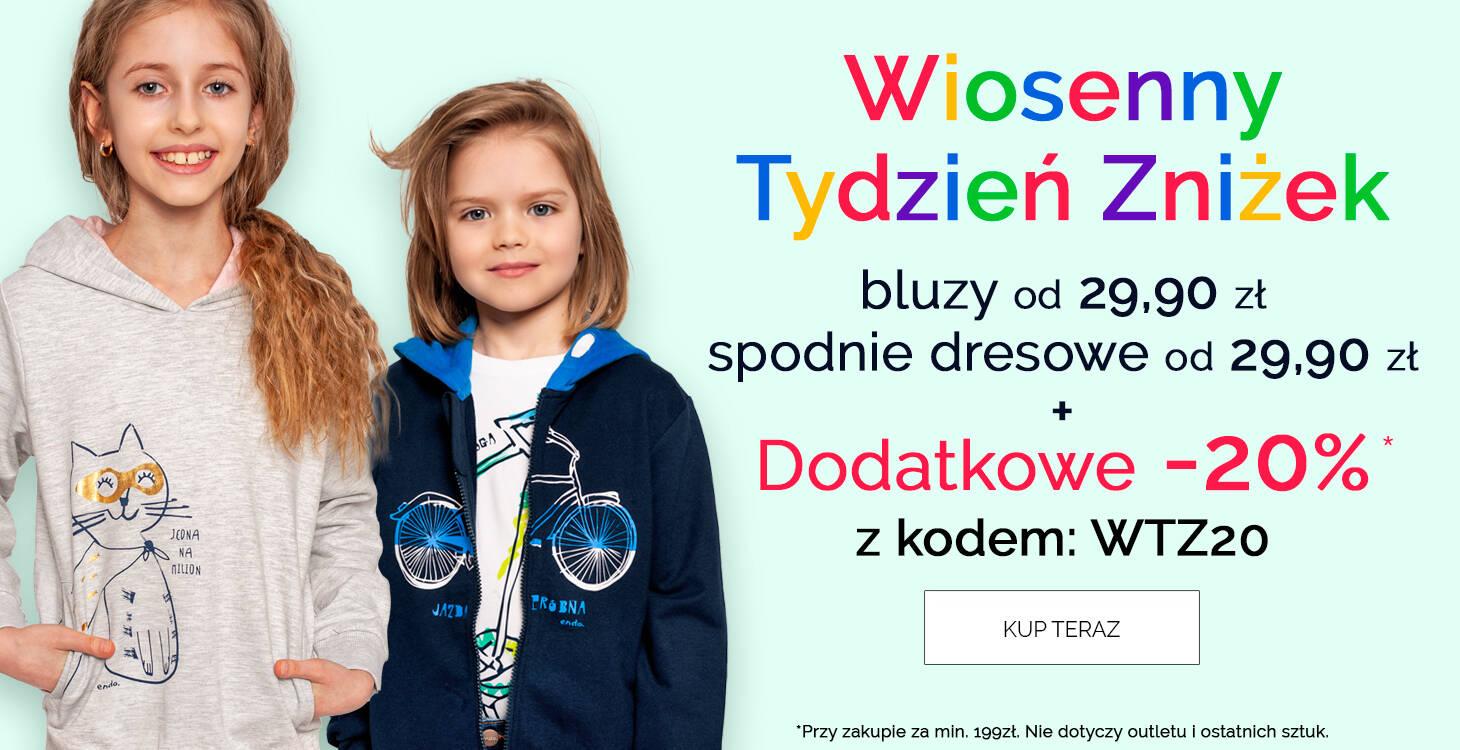 Bluzy i spodnie dla dzieci promocja -20%