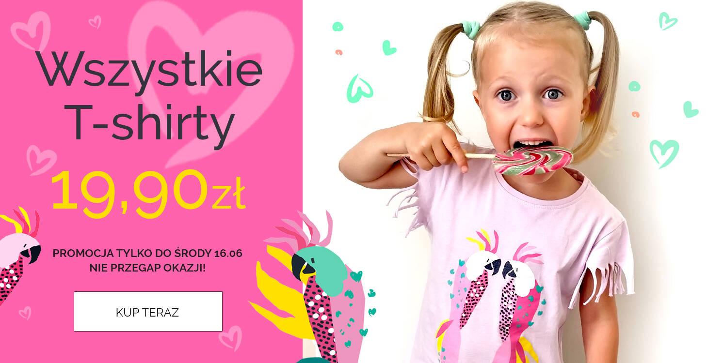 Koszulki dla dzieci za 19,90 promocja