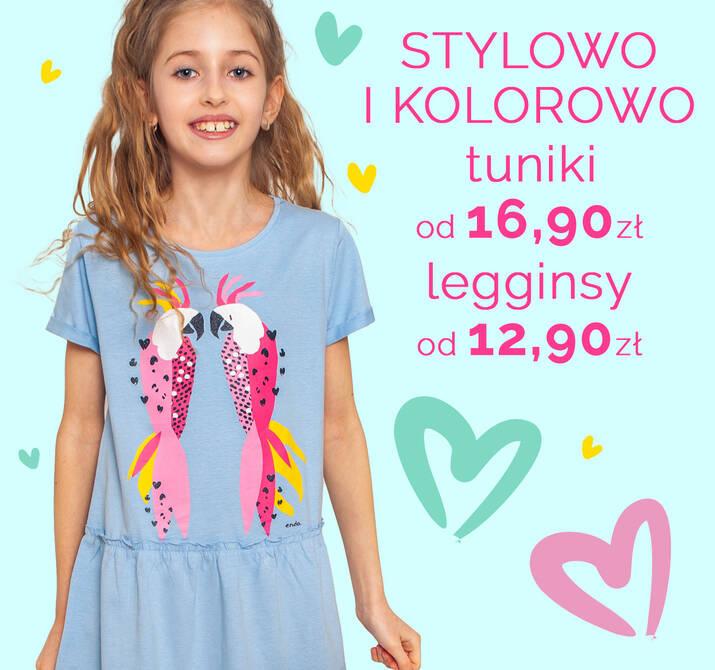 Tuniki i legginsy dziewczęce -20% promocja