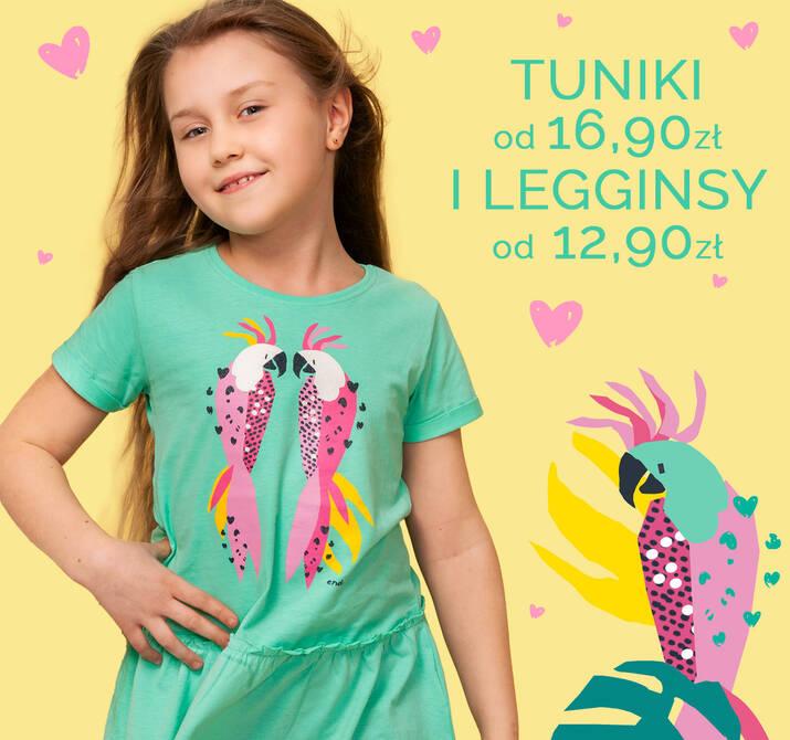 Tuniki i legginsy dziewczęce promocja