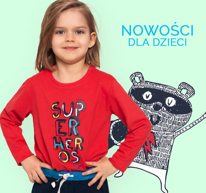 Nowości ubranka dla chłopca i dziewczynki promocja