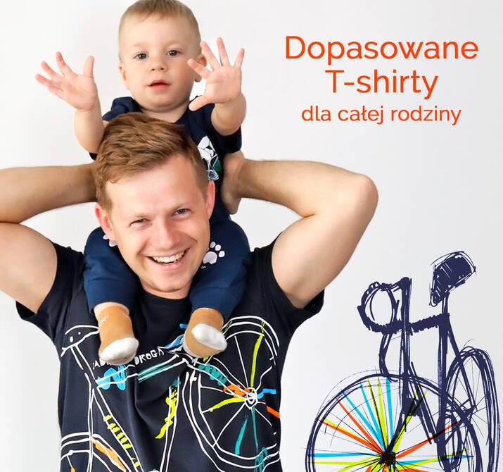 Dopasowane koszulki dla dzieci i dorosłych, rodzinne zestawy koszulek