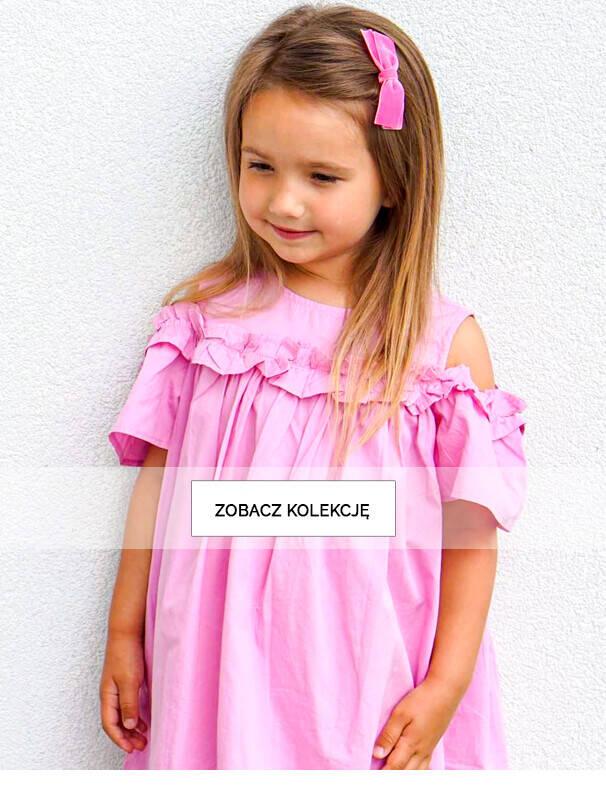 Dziewczynka w różowej sukience.
