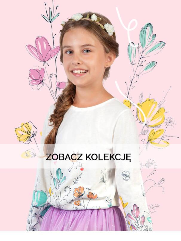 Baner z dziewczynką w jasnej bluzce.