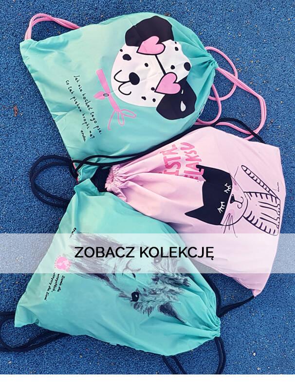 Baner z plecakami dla dziewczynek.