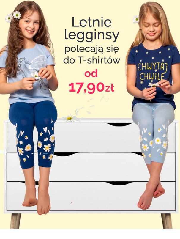 Krótkie legginsy i krótkie spodenki dla dziewczynki