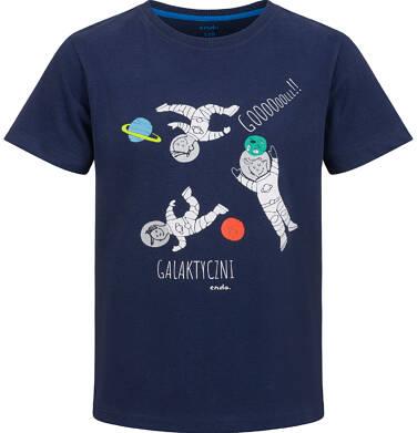 Endo - T-shirt z krótkim rękawem dla chłopca, z galaktyką, granatowy, 2-8 lat C03G109_1 12
