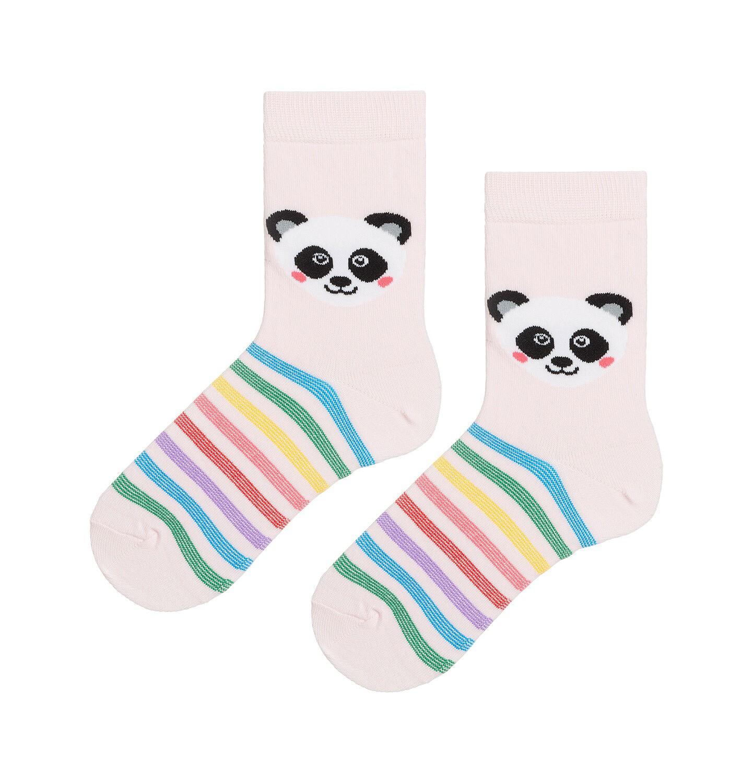 Endo - Kolorowe skarpetki dziecięce z pandą D08P010_1