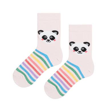 Endo - Kolorowe skarpetki dziecięce z pandą D08P010_1 129