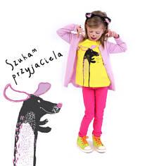 Bluzka z krótkim rękawem dla dziewczynki 4-8 lat D71G029_1