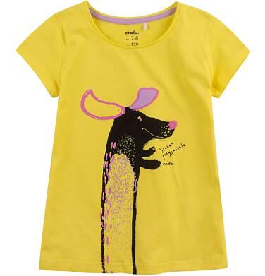 Endo - Bluzka z krótkim rękawem dla dziewczynki 4-8 lat D71G029_1