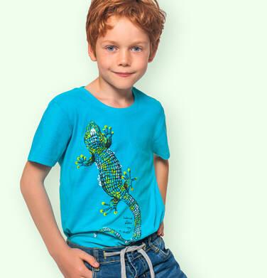 Endo - T-shirt z krótkim rękawem dla chłopca, z jaszczurką, niebieski, 3-8 lat C06G099_1 112