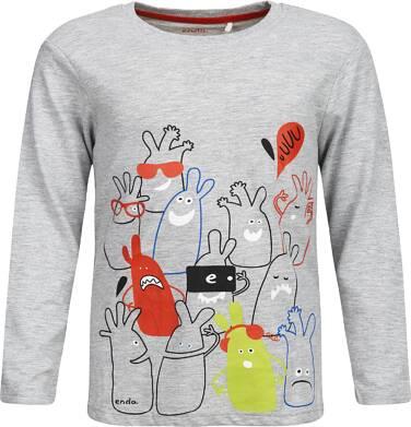 Endo - T-shirt z długim rękawem dla chłopca 3-8 lat C82G021_1