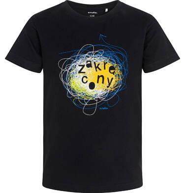 Endo - T-shirt z krótkim rękawem dla chłopca, z napisem zakręcony, czarny, 3-8 lat C06G176_1 14
