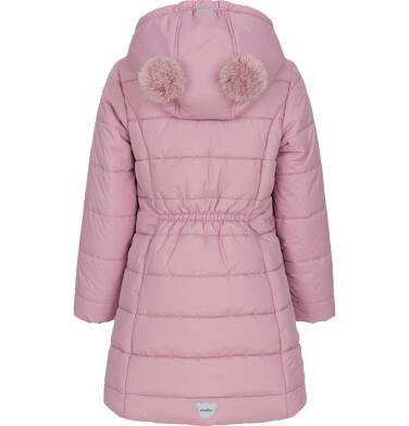 Endo - Zimowa kurtka dla dziewczynki 3-8 lat, długa, różowa, z futrzanymi uszkami, ciepła D92A014_1,4