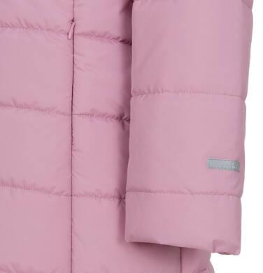 Endo - Zimowa kurtka dla dziewczynki 3-8 lat, długa, różowa, z futrzanymi uszkami, ciepła D92A014_1,7