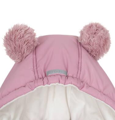 Endo - Zimowa kurtka dla dziewczynki 3-8 lat, długa, różowa, z futrzanymi uszkami, ciepła D92A014_1,5