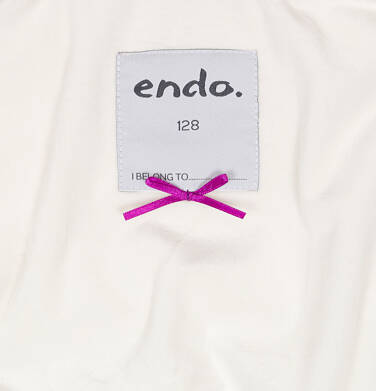 Endo - Zimowa kurtka dla dziewczynki 3-8 lat, długa, różowa, z futrzanymi uszkami, ciepła D92A014_1,6