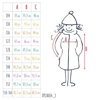 Endo - Zimowa kurtka dla dziewczynki 3-8 lat, długa, różowa, z futrzanymi uszkami, ciepła D92A014_1,3