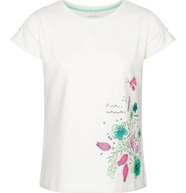 T-shirt z krótkim rękawem dla dziewczynki 3-8 lat D91G076_1