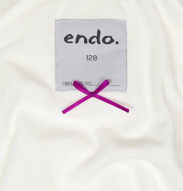 Endo - Zimowa kurtka dla dziewczynki 3-8 lat, długa, beżowa, z futrzanymi uszkami, ciepła D92A014_2,6