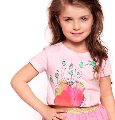T-shirt z krótkim rękawem dla dziewczynki 3-8 lat D91G080_1