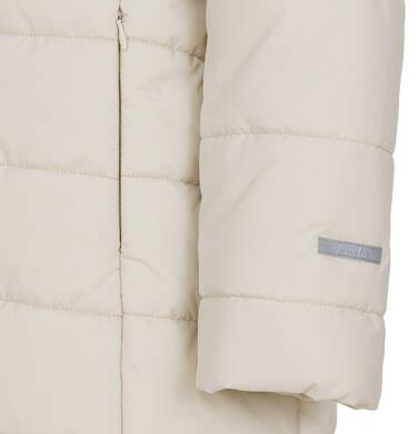 Endo - Zimowa kurtka, płaszcz dla dziewczynki 9-13 lat, długa, beżowa, z futrzanymi uszkami, ciepła D92A514_2,8