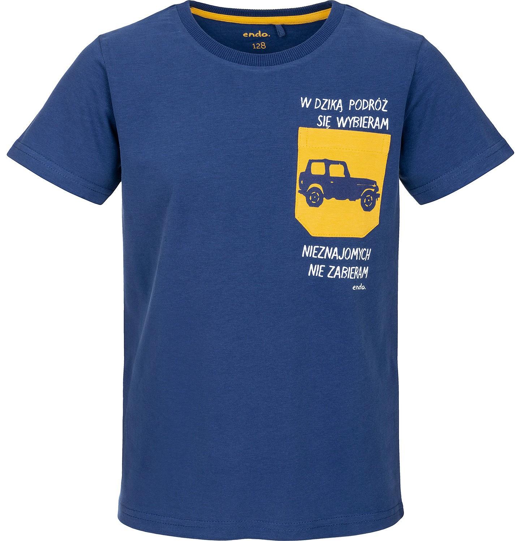 Endo - T-shirt z krótkim rękawem dla chłopca 9-13 lat C91G646_1