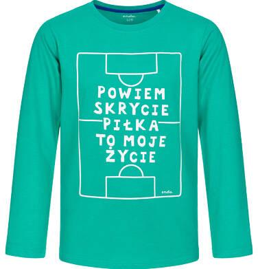 Endo - T-shirt z długim rękawem dla chłopca, piłka to moje życie, zielony, 9-13 lat C92G521_2