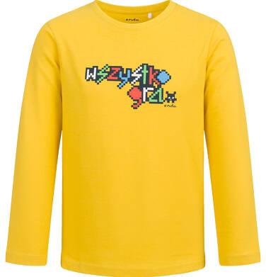 T-shirt z długim rękawem dla chłopca, wszystko gra, żółty, 2-8 lat C04G046_1