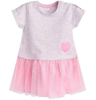 Endo - Sukienka z tiulowym dołem dla dziecka 9-36 m-cy N81H011_1