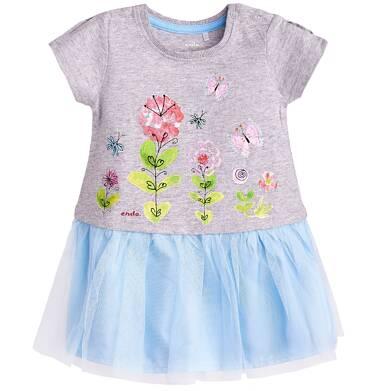 Sukienka z tiulowym dołem dla dziecka 9-36 m-cy N81H012_1