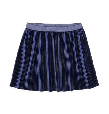 Endo - Welurowa spódnica z drobnymi pliskami dla dziewczynki 9-13 lat D72J510_1