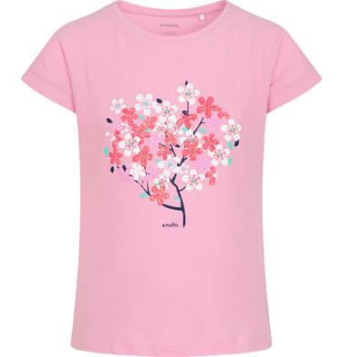 Endo - T-shirt z krótkim rękawem dla dziewczynki, z drzewem, różowy, 9-13 lat D06G019_2 23