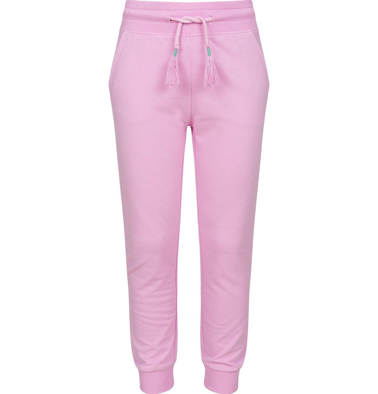 Endo - Spodnie dresowe dla dziewczynki ze ściągaczami, różowe, 2-8 lat D03K005_1