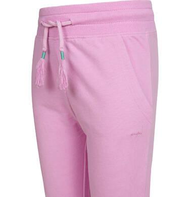 Endo - Spodnie dresowe dla dziewczynki ze ściągaczami, różowe, 2-8 lat D03K005_1,2