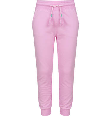 Endo - Spodnie dresowe dla dziewczynki ze ściągaczami, różowe, 9-13 lat D03K505_1 27
