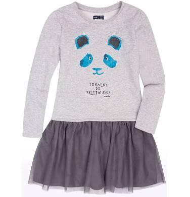 Endo - Sukienka z tiulową falbanką dla dziewczynki 9-13 lat D72H526_1