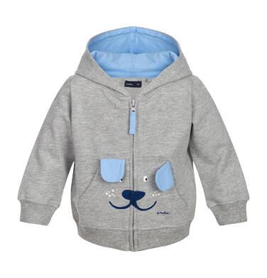 Bluza z kapturem rozpinana dla dziecka 0-3 lata N82C006_1