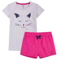 Piżama z krótkimi spodenkami dla dziewczynki 4-8 lat D71V003_1