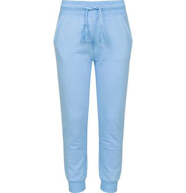 Endo - Spodnie dresowe dla dziewczynki ze ściągaczami, niebieskie, 2-8 lat D03K005_3
