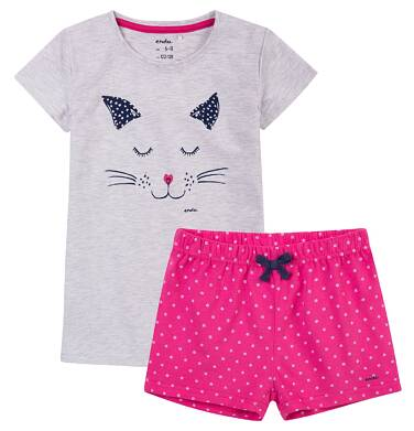 Endo - Piżama z krótkimi spodenkami dla dziewczynki 9-13 lat D71V503_1