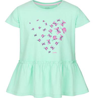 Endo - Bluzka z krótkim rękawem dla dziewczynki 9-13 lat D91G583_1