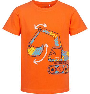 Endo - T-shirt z krótkim rękawem dla chłopca, z koparką, pomarańczowy, 2-8 lat C05G174_3 29