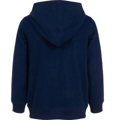 Endo - Rozpinana bluza z kapturem dla chłopca, z czarną panterą, granatowa, 3-8 lat C06C016_1 7