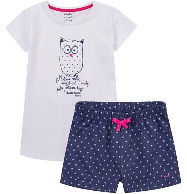 Endo - Piżama z krótkimi spodenkami dla dziewczynki 4-8 lat D71V004_1