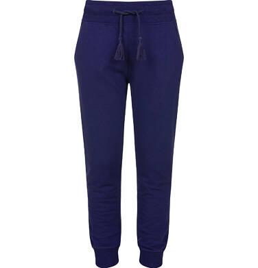 Endo - Spodnie dresowe dla dziewczynki ze ściągaczami, granatowe, 2-8 lat D03K005_4
