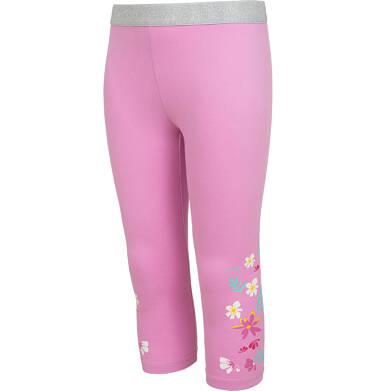 Endo - Legginsy 3/4 dla dziewczynki, różowe z kwiatkami, 9-13 lat D05K062_2 28